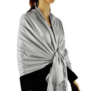 Solid Silky Wedding Pashmina
