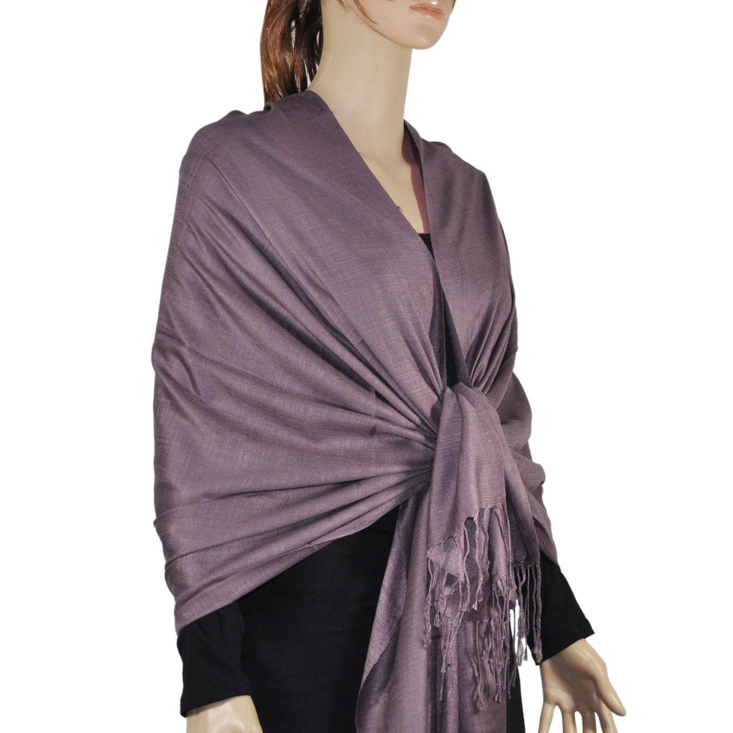 Silky Light Wedding Pashmina Purple