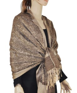 Whole Jacquard Pashmina Solid Border
